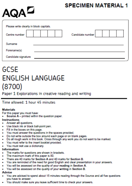 english papers gcse Our new gcse in english literature is underpinned by a skills-based approach to help students read and engage critically with a wide range of literature students are encouraged to articulate fresh, individual and justified responses to texts from a variety of genres, periods and cultures.