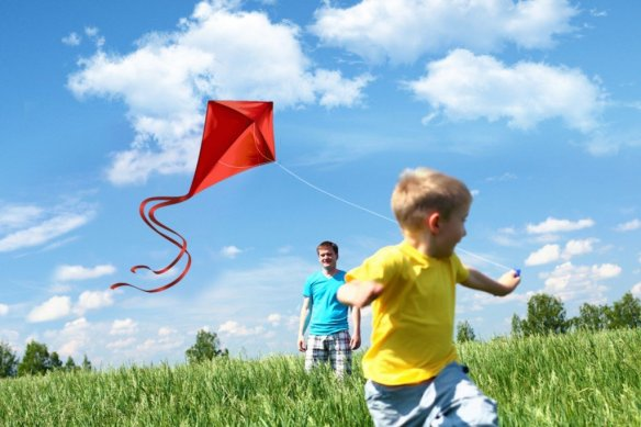 Kite-flying-boy